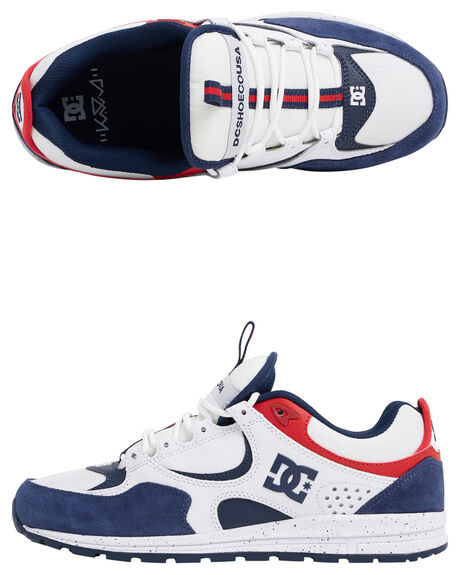 WHITE/RED/BLUE MENS FOOTWEAR DC SHOES SNEAKERS - ADYS100382-XWRB