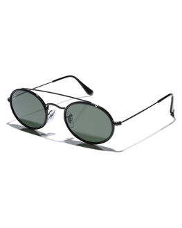 BLACK GREEN MENS ACCESSORIES RAY-BAN SUNGLASSES - 0RB3847NBLKGR