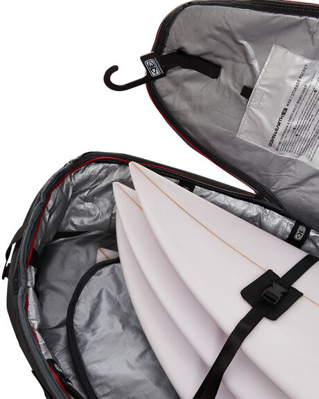 BLACK RED BOARDSPORTS SURF OCEAN AND EARTH BOARDCOVERS - SCSB07BLKRE