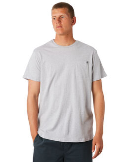 LIGHT GREY MARLE MENS CLOTHING BILLABONG TEES - 952046LGMRL
