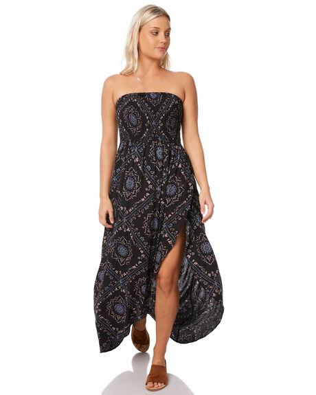 BLACK WOMENS CLOTHING RUSTY DRESSES - DRL0930BLK