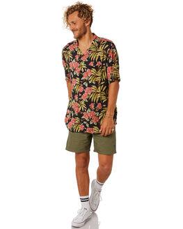BLACK MENS CLOTHING STUSSY SHIRTS - ST082400BLK