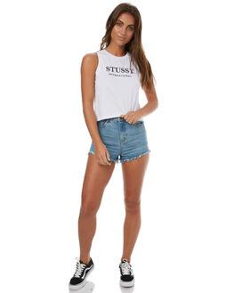 WHITE WOMENS CLOTHING STUSSY SINGLETS - ST173038WHT