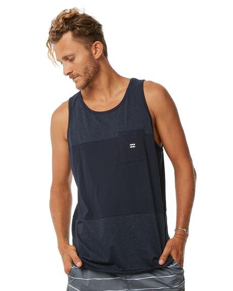 NAVY MENS CLOTHING BILLABONG SINGLETS - 9572511NVY