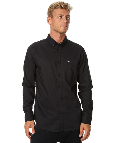 BLACK BLACK MENS CLOTHING RVCA SHIRTS - R141216BKBK