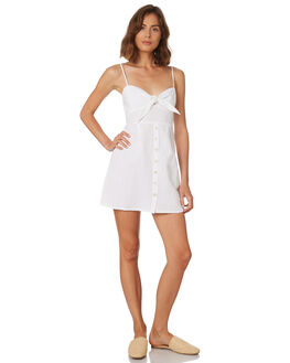WHITE WOMENS CLOTHING TROUBLE LOVES COMPANY DRESSES - T8188445WHITE
