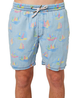 YACHT CLUB INDIGO MENS CLOTHING BARNEY COOLS SHORTS - 607-CR4YACHT