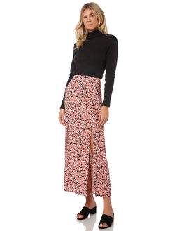 BLACK ROSETTE WOMENS CLOTHING THE FIFTH LABEL SKIRTS - 40190402-9FLORAL