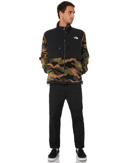 BURNT OLIVE CAMO MENS CLOTHING THE NORTH FACE JACKETS - NF0A3XCDFQ9