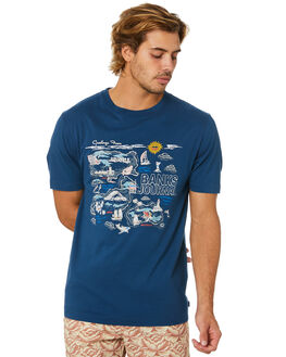 INSIGNIA BLUE MENS CLOTHING BANKS TEES - WTS0467ISB