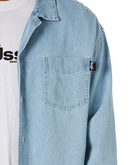 DENIM MENS CLOTHING STUSSY SHIRTS - ST015400DENIM
