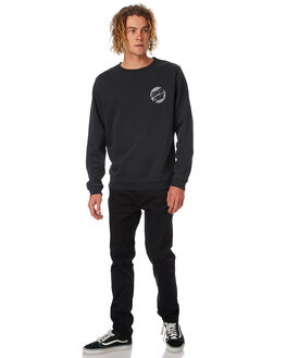BLACK MENS CLOTHING SANTA CRUZ JUMPERS - SC-MFB8884BLK