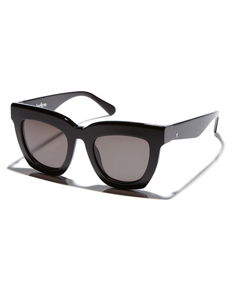 GLOSS BLACK WOMENS ACCESSORIES VALLEY SUNGLASSES - S0295GLBLK