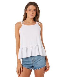 WHITE OUTLET WOMENS SWELL SINGLETS - S8184272WHITE