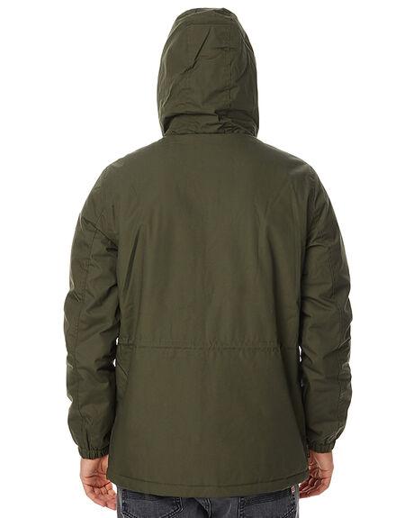 MOSS GREEN MENS CLOTHING ELEMENT JACKETS - 176458MFRN