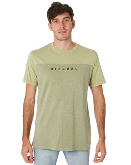 WASHED OLIVE MENS CLOTHING RIP CURL TEES - CTESI29591