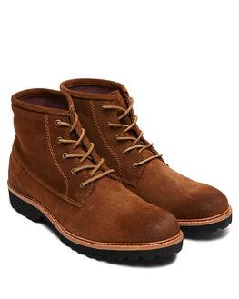 COGNAC OILY SUEDE MENS FOOTWEAR URGE BOOTS - URG19067COS