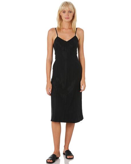 WASHED BLACK WOMENS CLOTHING THRILLS DRESSES - WTH9-908BBLACK