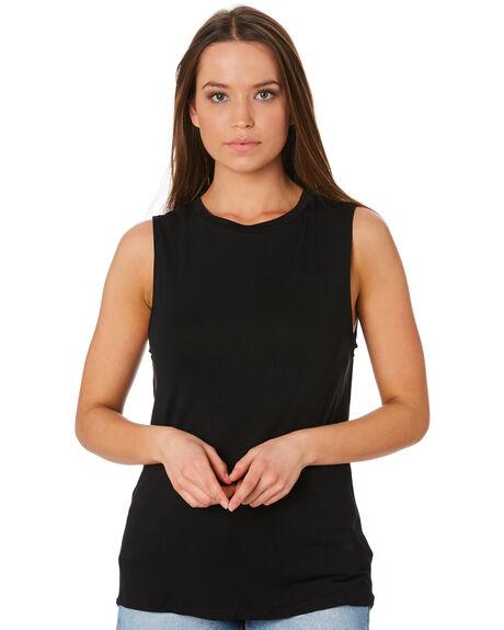 BLACK WOMENS CLOTHING BETTY BASICS SINGLETS - BB542BLK