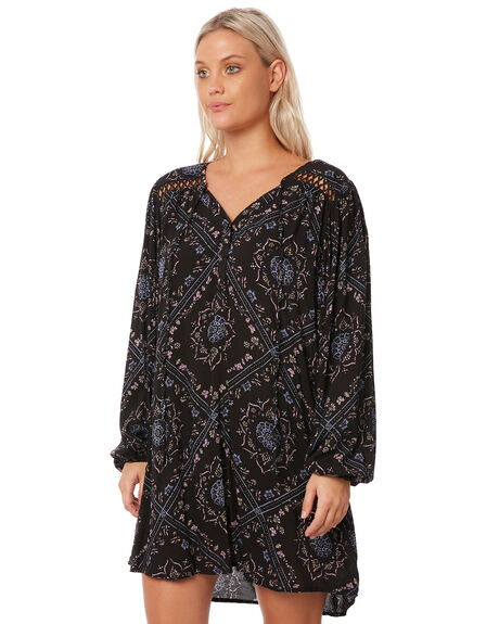 BLACK WOMENS CLOTHING RUSTY DRESSES - DRL0920BLK
