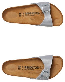 SILVER WOMENS FOOTWEAR BIRKENSTOCK FASHION SANDALS - 040411WSIL