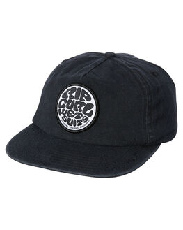 WASHED BLACK KIDS BOYS RIP CURL HEADWEAR - KCAOL18264