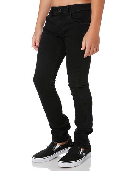BLACK KIDS BOYS VOLCOM PANTS - C1931500BLK