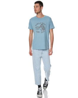SKY BLUE MENS CLOTHING MOLLUSK TEES - MS1489SBLU