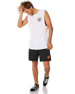 WHITE MENS CLOTHING SANTA CRUZ SINGLETS - SC-MTC8944WHITE
