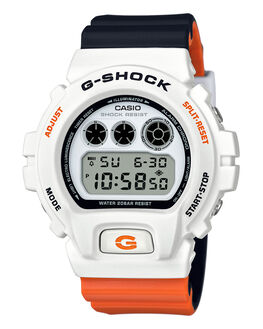 WHITE BLACK ORANGE MENS ACCESSORIES G SHOCK WATCHES - DW6900NC-7DWBKOG