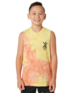 TROPIC YELLOW KIDS BOYS VOLCOM TOPS - C3741874TPC