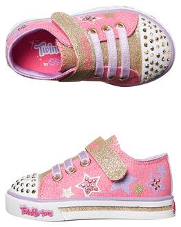 HOT PINK KIDS TODDLER GIRLS SKECHERS FOOTWEAR - 10790NHPGD