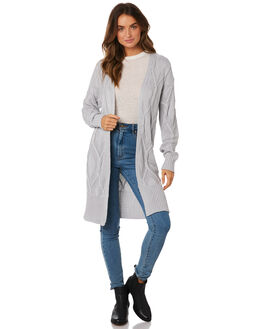 LIGHT GREY WOMENS CLOTHING ALL ABOUT EVE KNITS + CARDIGANS - 6433071GRY