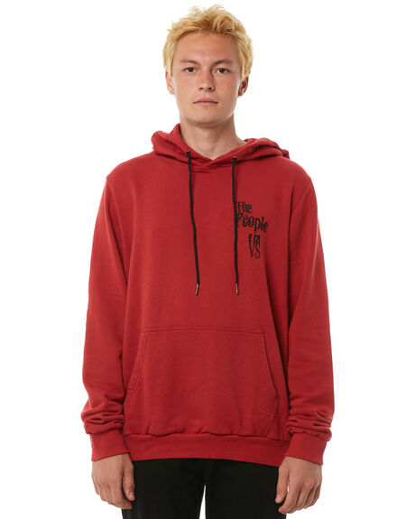 DUSTY RED MENS CLOTHING THE PEOPLE VS JUMPERS - AW18057DRED