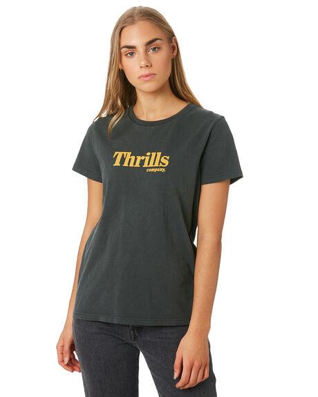 MERCH BLACK WOMENS CLOTHING THRILLS TEES - WSMU9-135MBMBLK