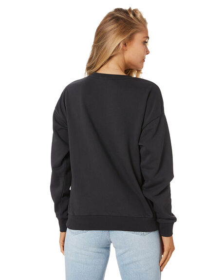BLACK WOMENS CLOTHING RUSTY JUMPERS - FTL0749-BLK