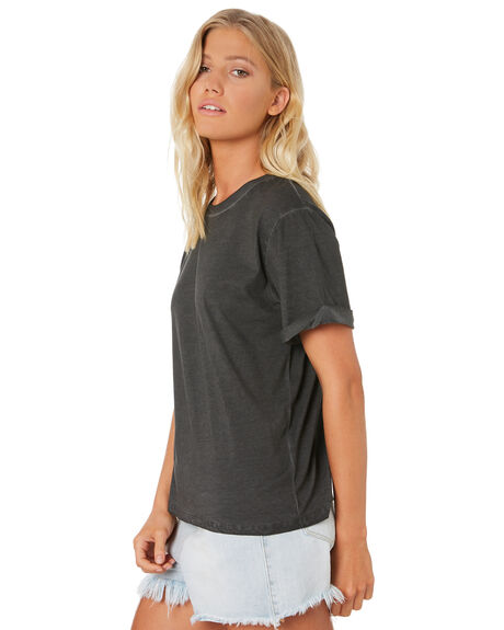 BLACK WOMENS CLOTHING SWELL TEES - S8188002BLACK