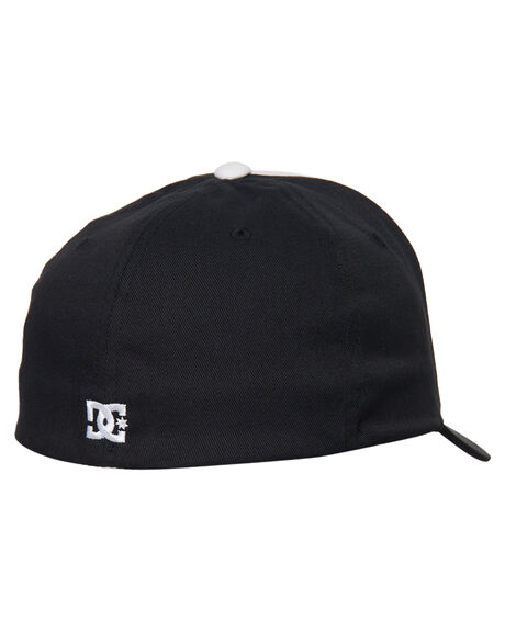 BLACK MENS ACCESSORIES DC SHOES HEADWEAR - ADYHA03544KVJ0