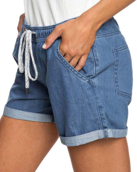 MEDIUM BLUE WOMENS CLOTHING ROXY SHORTS - ERJDS03178BGY0