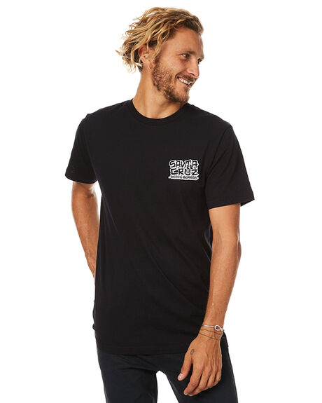 BLACK MENS CLOTHING SANTA CRUZ TEES - SC-MTB7508BLK