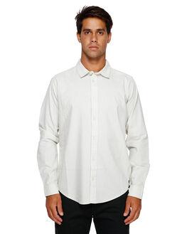 SILVER BLEACH MENS CLOTHING RVCA SHIRTS - RV-R391193-SVA