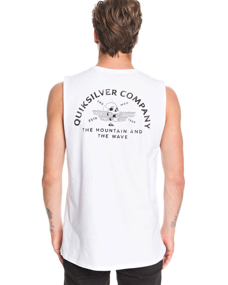 WHITE MENS CLOTHING QUIKSILVER SINGLETS - EQYZT05684-WBB0