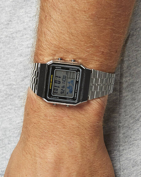SILVER MENS ACCESSORIES CASIO WATCHES - A500WA-1DF