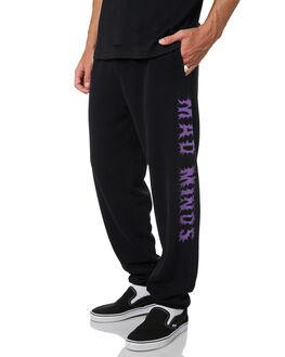 WASHED BLACK MENS CLOTHING MISFIT PANTS - MT095605WBLK