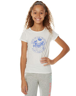MARSHMALLOW KIDS GIRLS ROXY TEES - ERGZT03160WBT0