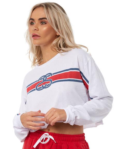 WHITE WOMENS CLOTHING STUSSY TEES - ST181018WHT
