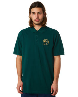 FOREST GREEN MENS CLOTHING PASS PORT SHIRTS - POOLHALLFGRN