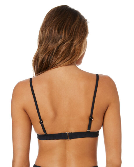 BLACK WOMENS SWIMWEAR SWELL BIKINI TOPS - S8211334BLACK
