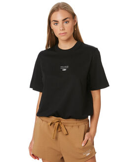 BLACK WOMENS CLOTHING C&M CAMILLA AND MARC TEES - WCMT7067BLK