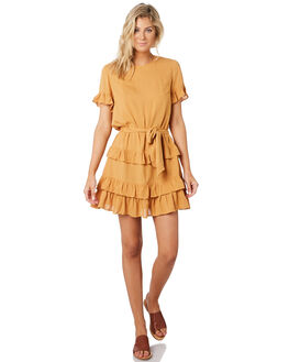 GOLD WOMENS CLOTHING MINKPINK DRESSES - MP1903463GLD